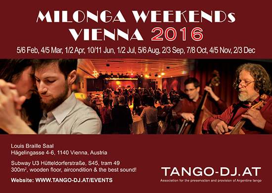 MILONGA WEEKEND VIENNA 2016