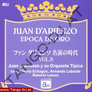 Juan D'Arienzo – Epoca De Oro – Vol. 8 – Audio Park APCD-6508
