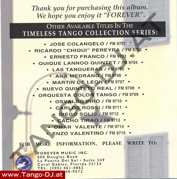 Timeless Tango – Ana Medrano – Forever Music (FMCD-9706)