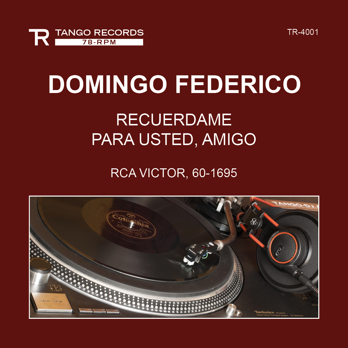 TANGO RECORDS 78-RPM Series Cover