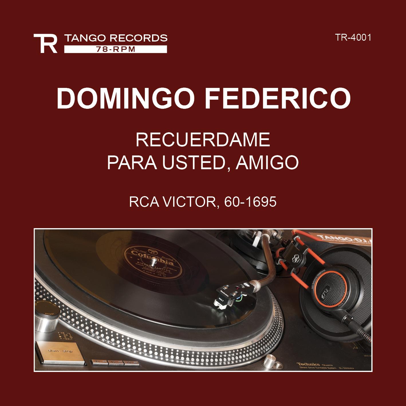 TANGO RECORDS 78-RPM Series Cover