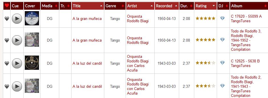 TANGO-DJ.AT Database - Digital Releases